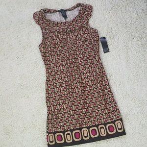 NWT Alyn Paige New York a-line geometric dress S